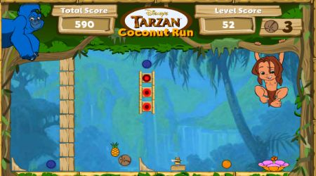 Captura de pantalla - Tarzán: Carrera de cocos